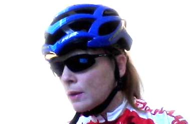 Belinda Williams in her new helmet.